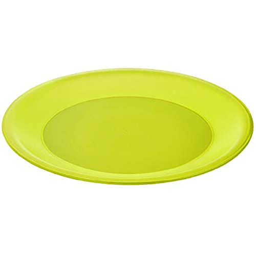 Rotho Caruba flacher Plastikteller Mehrweg, Kunststoff (PP) BPA-frei, grün, 26,0 x 26,0 x 1,5 cm