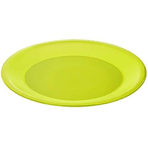 Rotho Caruba Plastikteller flach, Kunststoff (BPA-frei), grün, (26 x 26 x1,5 cm)