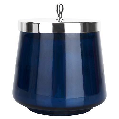La Jolíe Muse Vela aromatica - Vela perfumada de eucalipto y Higo, Tarro de Cristal Ovalado, Regalos para casa, 65-75 Horas, 350g