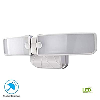 Defiant LED Security Light - 180 Watt Equivalent - Switch Controlled - White Finish