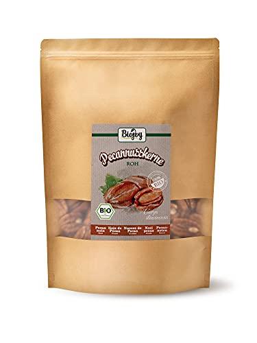 Biojoy Nueces Pecanas crudas Ecologicas, sin sal y naturales (1 kg Mitades)