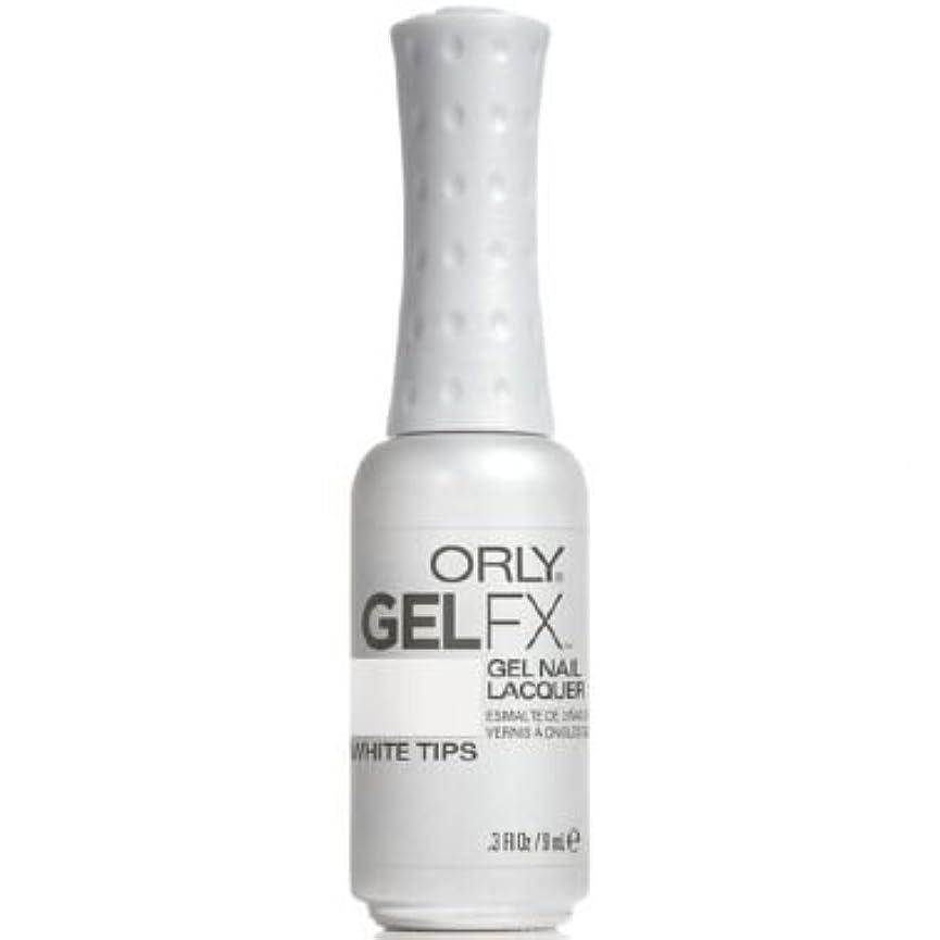依存フラフープ馬鹿Orly Gel FX Gel UV Vernis à Ongles/ Gel Polish - White Tips 9ml