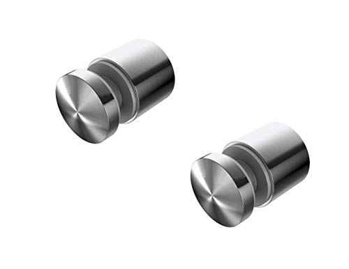 """(Pack of 2) Large 2"""" Diameter Heavy Duty Stainless Steel Glass Standoffs"""