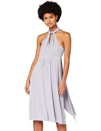 Marca Amazon - TRUTH & FABLE Vestido Mujer Multiposición, Gris (Dapple Grey), 36, Label: XS