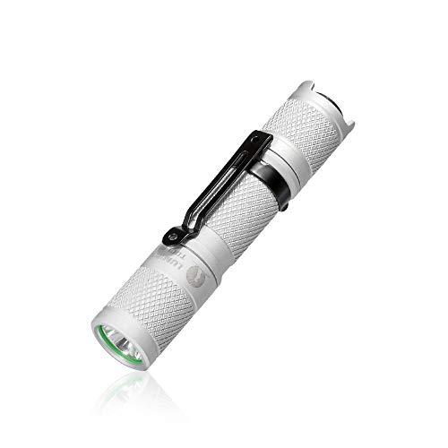 Led-zaklamp LUMINTOP TOOL AA kleine handlamp met superheldere Cree XPL LED 650 lumen 5 modi IP68 waterdicht 1 AA/14500 batterij aangedreven lamp voor dagelijks gebruik outdoor camping wandelen noodgevallen 89.5 x 18.5 x 18.5 mm wit