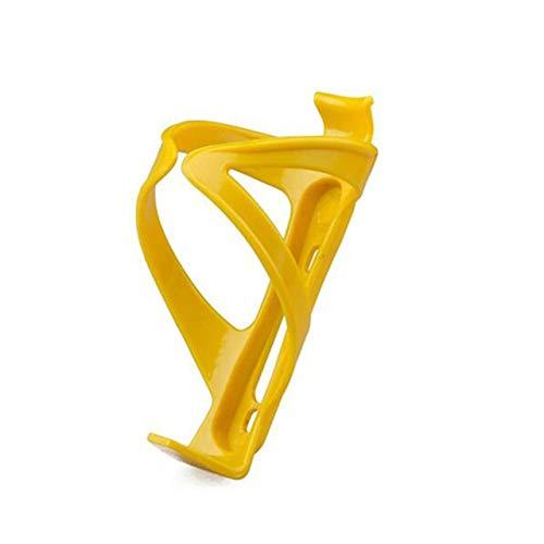 Cylficl. - Portabottiglie in plastica per bicicletta, per mountain bike, bici da strada, sport all'aria aperta, per bollitore, resistente attrezzatura da ciclismo (colore: giallo)