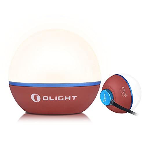 OLIGHT Obulb Touch Funktion Nachtlicht, Led Atmosphäre Nachttischlampe nur 55g, Farbwechsel und Dimmbare Beleuchtung mit 55 Lumen, bis zu 56 Stunden Tischlampe zum Lesen,Schlafen und Dekoration(Rot)