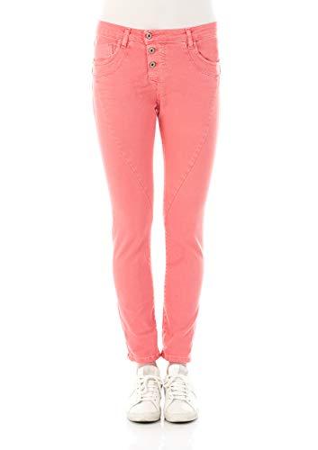 Please Damen Jeans P78A - H02DDD - Boyfriend - Rosa - Azalea XXS XS S M L XL 98% Baumwolle Stretchjeans Damenjeans, Größe:S, Farbvariante:Azalea (1339)
