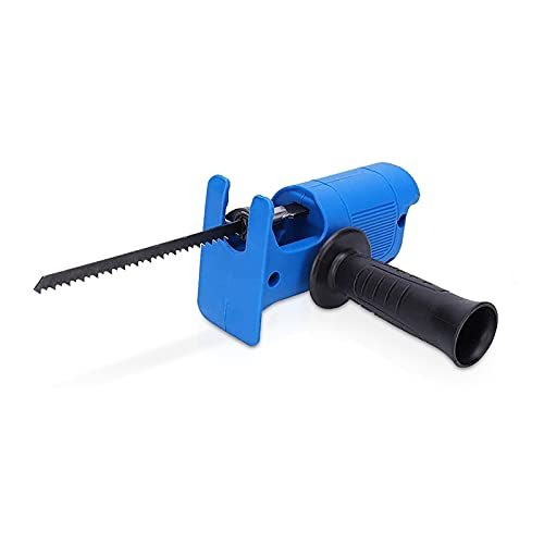 Electric Reciprocating Saw, Portable Reciprocating Saw Adapter Set Jig Saw Electric Drill Tool Attachment for Wood Metal Cutting