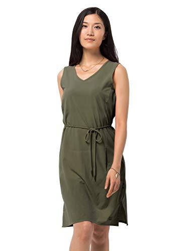 Jack Wolfskin Damen Tioga Road Dress Kleid, delta green, XL