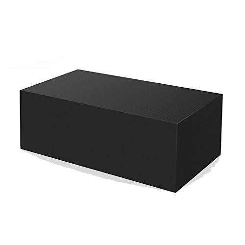AWSAD Cubierta para Mesa de Patio, Cubiertas cuadradas para Muebles de jardín, Cubiertas para Mesa al Aire Libre a Prueba de Agua, 30 tamaños (Color : Negro, Size : 110x110x85cm)