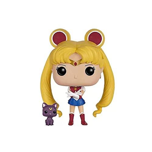 10Cm Anime Japonés Sailor Moon # 89 Pop Luna Cat ViniloColección DeFiguras De AcciónJuguetes Modelo para Niñas Cumpleaños