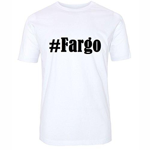 T-Shirt #Fargo Größe 2XL Farbe Weiss Druck schwarz