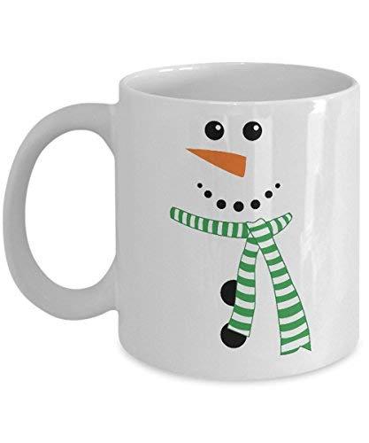 Cukudy Weihnachten Lustiger Schneemann mit Schal, weiß