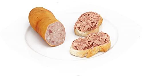 Kasselerleberwurst | Hausmacher Leberwurst mit Kasseler Fleisch | Herzhafte Wurst als Aufstrich 600 g