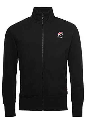 Superdry Herren Sportstyle Essential Trainingsjacke, Schwarz, XXL