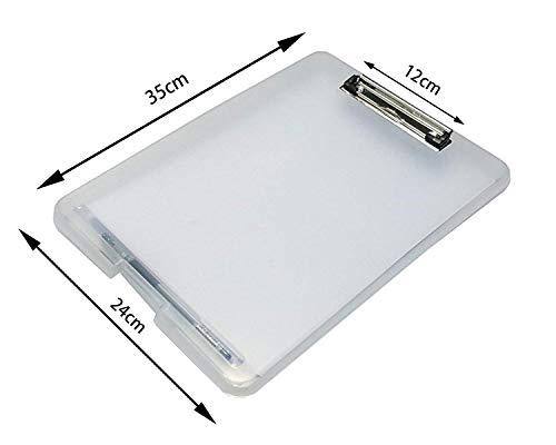 『Panavage クリップボードフォルダ a4 ファイルボード バインダー 会議用パッド 半透明』の4枚目の画像