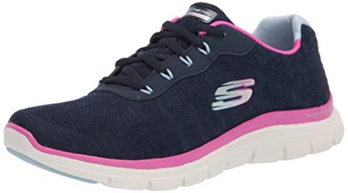 Skechers Flex Appeal 4.0 Fresh Move, Zapatillas Mujer, Azul Marino, 38.5 EU