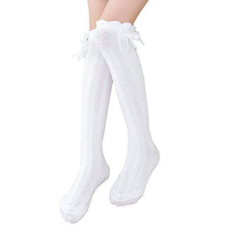 Blaward Kinder Mädchen Kniestrümpfe Socken Prinzessin Bowknots Baumwollsocken 3-12Jahre