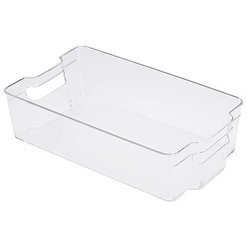 AmazonBasics - Recipienti in plastica per il frigo, molto grandi, set di 2