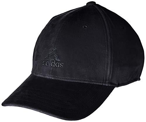 adidas Bball Velvet CA Hat, Black/Black/Black, OSFY