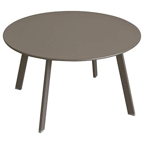 iDiffusion Saona - Mesa auxiliar de jardín (diámetro 70 cm – Marrón Tonka