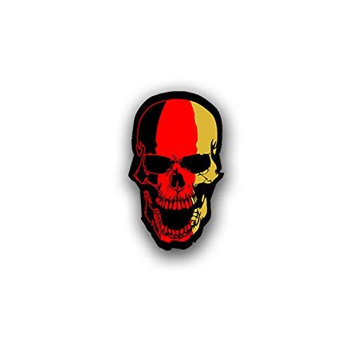 Autocollant / sticker noir rouge or Oldschool Tuning Biker Crâne 7 x 4 cm A1852