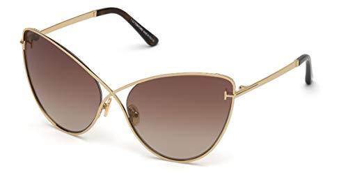 Tom Ford sonnenbrille FT0786 LEILA 28F Gold-braun größe 63 mm Frau