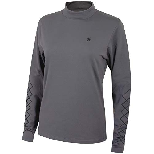 Insel Green Golf IGLBASE1743 Womens Sports Water Repellent Compression Radunterhemd Langarm T-Shirt, Bedrock Grau, Größe 14