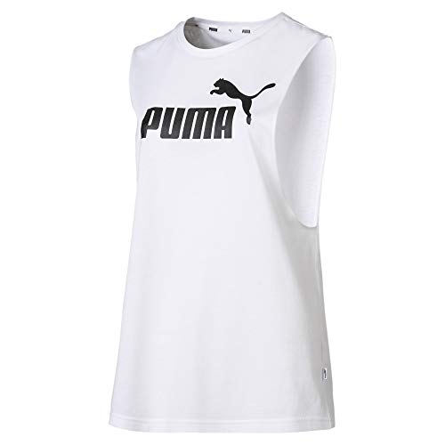 Puma Essentials+ Cut off, Canotta Sportiva Donna, Bianco White, S