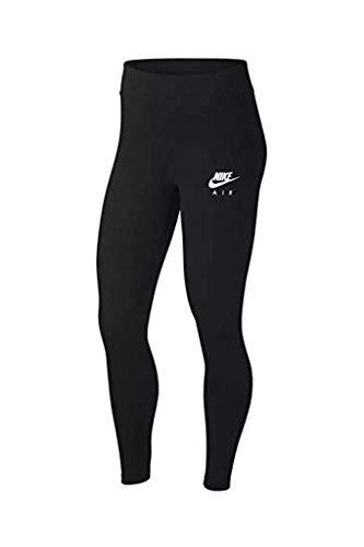 Nike Air CN7090-010 Damen-Leggings, hohe Taille, volle Länge, Schwarz - Schwarz - Mittel