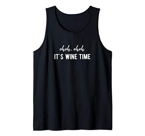 It's Wine Time - Lustiges Weintrinker Wein Weinfest Geschenk Tank Top