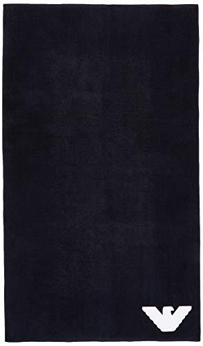 Emporio Armani Underwear Herren Homewear - Sponge Towel Schal, Blau (Marine 00135), One Size (Herstellergröße:TU)