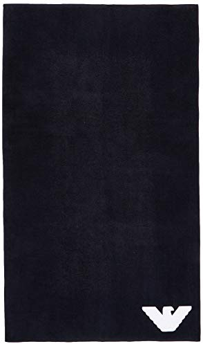 Emporio Armani Underwear Herren Homewear-Sponge Towel Schal, Blau (Marine 00135), One Size (Herstellergröße:TU)