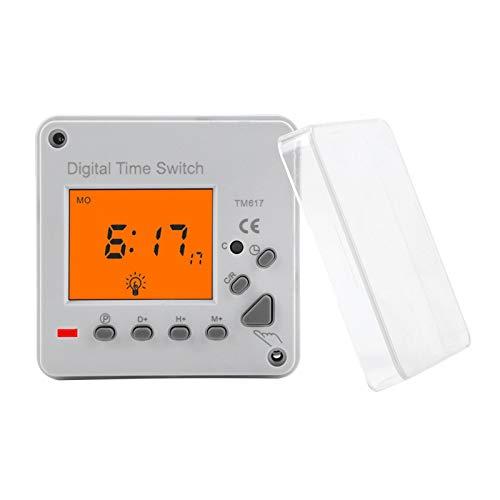 Temporizador de interruptor de control inteligente programable duradero eléctrico digital con pantalla de retroiluminación(220VAC TM617-2)