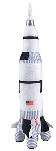 14 Inch Plush NASA Space Shuttle and 17.5 Inch Plush Saturn Rocket Ship Stuffed Toys Bundle