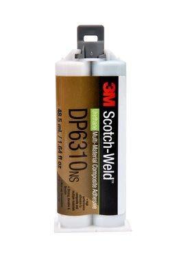 3M Scotch-Weld Composite Urethane Adhesive DP6310NS Green, 48.5 mL Duo-Pak, 12 per case