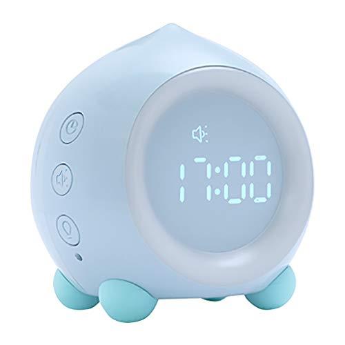 Despertador clásico Altavoz Bluetooth aplicación inteligente con reloj despertador multifunción reloj digital portátil de altavoces inalámbrico for la cabecera de oficina Despertador de decoración sil