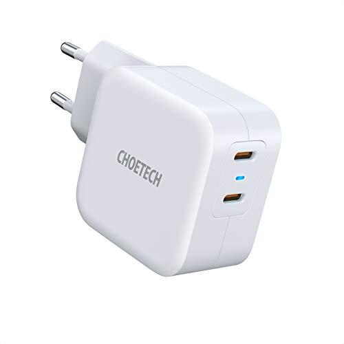 40W USB C Ladegerät,CHOETECH Schnellladegerät,Dual USB C Netzteil,Fast Charger PD&QC3.0 Wandladegerät, kompatibel mit iPhone 12/12 Pro/ProMax/12 Mini/SE 2020, iPad Pro,AirPods,Google Pixel 5