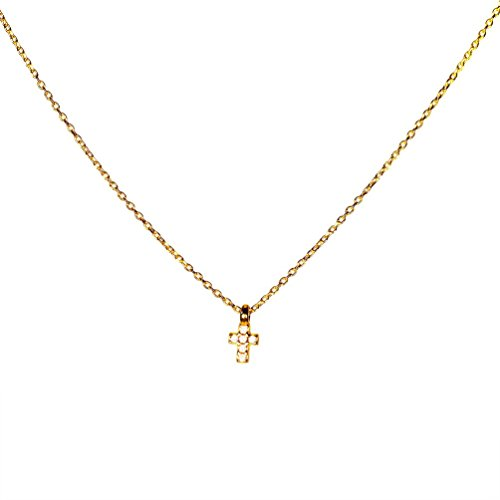 Kurshuni Halskette Kreuz mini Gold