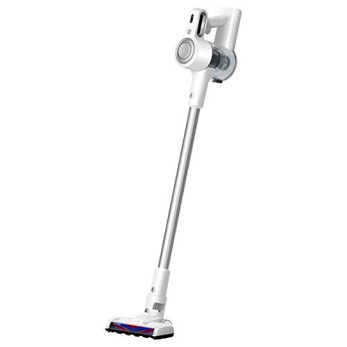 掃除機 コードレス 強吸引力 サイクロン 2WAY 急速充電 超軽量 スティッククリーナー 高機能 HEPAフィルター 静音 (白, 24000Pa)