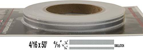 "Universal TFX 00043064 - Auto Customizing Dual Pinstripe -(1/4') 4/16' x 50' (1/8"" Stripe, 1/16' Gap, Then 1/16"" Stripe)-64 Silver Metallic"