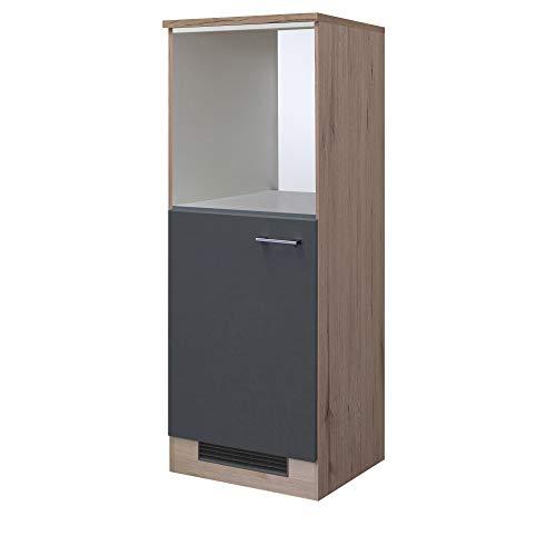 MMR Midi-Kühlschrank- und Herdumbauschrank LIVERPOOL - Umbauschrank - 1-türig - 60 cm breit - Basaltgrau Matt