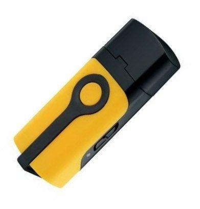GPSデーターロガー 小型ハンディGPS  携帯式GPSロガー  バッテリ内蔵 自分の軌跡が記録 ドライブ アウトドア 釣り 登山 CANMORE イエロー GT-730FL-YL