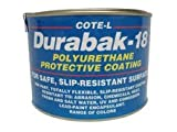 Durabak 18 (For Outdoors), SMOOTH version - Non Slip Coating, Bedliner, Deck Paint for ALL Boats - Many colors to choose from! - WHITE - QUART