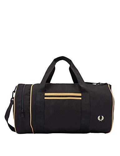 Fred Perry TWIN TIPPED BARREL BAG Sporttaschen herren Schwarz/Goldfarben - Einheitsgrösse - Sporttaschen