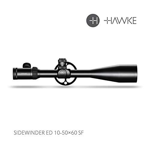 Hawke Sidewinder ED 10-50x60 SF Zielfernrohr, schwarz, M