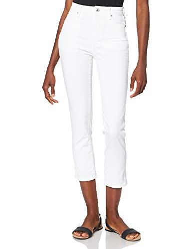 Pepe Jeans Dion 7/8 Vaqueros, Blanco (Blanco 000Denim 76L), 28W / RE para Mujer