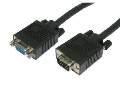 1m svga Verlängerungskabel - Premium-Qualität / video / multiple geschirmt / DB15 / Monitor / männlich zu weiblich / Blei