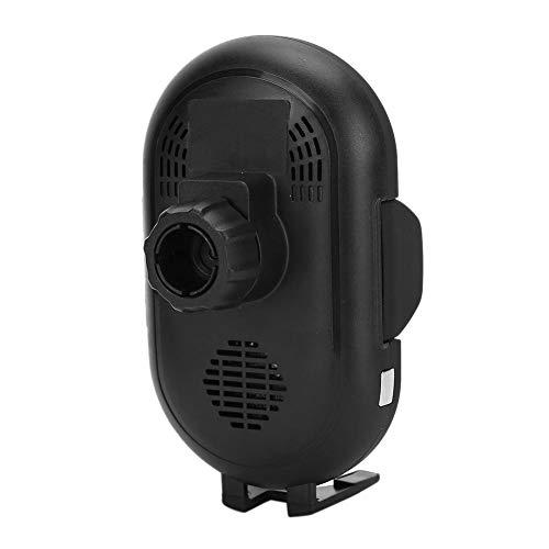 ABS + PC Cargador inalámbrico para automóvil Soporte para teléfono Tablero de instrumentos Soporte para cargador de automóvil por inducción infrarroja Operación con una mano para teléfono(negro)